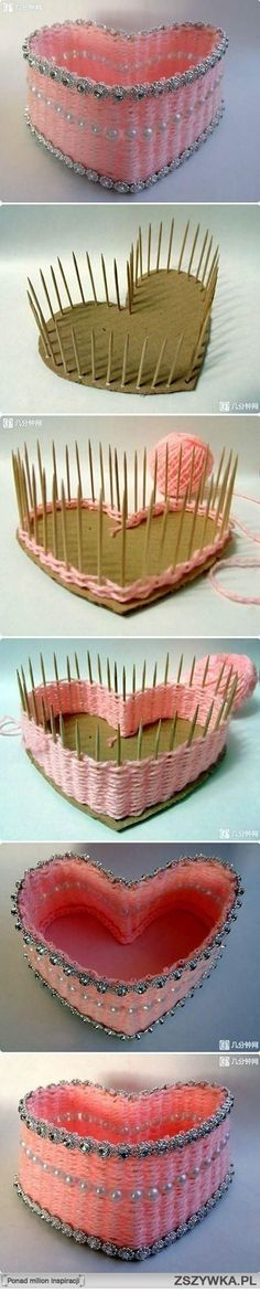 DIY holder. Uses just tooth-pick, card board, some sew string and decorating elements. An easy way to made a nice holder for your table or other usages purpose. =) by meerystar