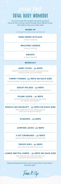 Total body Snow Day workout