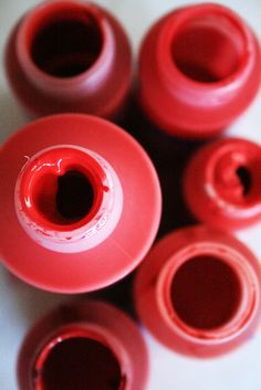 jars of red paint