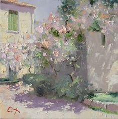 Venice Mist in Saint Petersburg Evening in London London Mist Rainy Night in Paris Almond Bloom White Portugal Sun Blooming . Abstract Landscape, Landscape Paintings, Flower Paintings, Impressionist Paintings, Russian Art, Russian Painting, Traditional Paintings, Anime Comics, Figure Painting