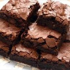 Fudge Brownie Recipe: batter is very liquid, but brownies are good
