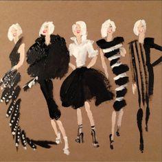 Donald Robertson Fashion illustration