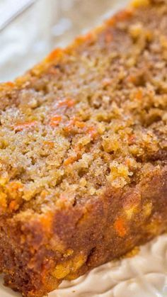 Low Unwanted Fat Cooking For Weightloss Carrot Apple Bread - Carrot Cake With Apples Added And Baked As A Bread So It's Healthier Super Moist, Packed With Flavor, Fast And Easy Bread Cake, Dessert Bread, Carrot Cake Bread, Carrot Muffins, Carrot Cake Muffins, Apple Recipes, Sweet Recipes, Loaf Recipes, Frozen Banana Recipes