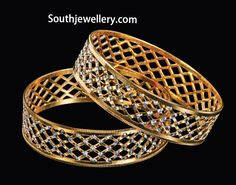 Indian Jewellery Designs - Page 491 of 1785 - Latest Indian Jewellery Designs 2020 ~ 22 Carat Gold Jewellery one gram gold Plain Gold Bangles, Gold Bangles Design, Gold Jewellery Design, Gold Jewelry, Jewlery, Jewelry Bracelets, Bracelet Charms, Designer Jewellery, Gold Necklaces