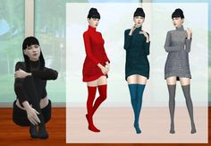 Deelitefulsimmer: Base game sock recolor • Sims 4 Downloads