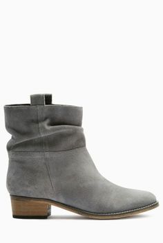 Buy Grey Square Toe Suede Slouch Ankle Boots online today at Next ...