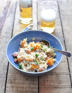 Squash & Pancetta Risotto with Herbs