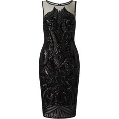 Adrianna Papell Sequin Panel Illusion Cocktail Dress, Black (13.655 RUB) ❤ liked on Polyvore featuring dresses, midi cocktail dress, sleeveless cocktail dress, bodycon midi dress, evening dresses and cocktail dresses