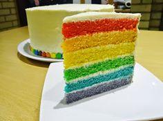 Joyce bakt: Regenboogtaart Dessert Decoration, Happy Foods, Beautiful Cakes, Diy For Kids, Vanilla Cake, Birthday Cake, 4th Birthday, Food And Drink, Cooking Recipes