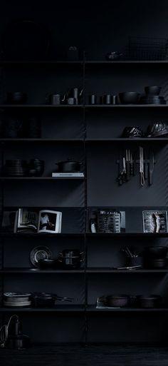 Monochromatic | Black on Black | Bookshelf | Perfectly Styled