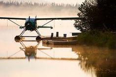 Float Plane in the Mist jigsaw puzzle Avion Jet, Reno Air Races, Bush Pilot, Plane And Pilot, Amphibious Aircraft, Bush Plane, Float Plane, Puzzle Of The Day, Private Plane