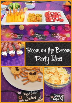 Great ideas for a Room on the Broom themed Halloween Party… Preschool Halloween Party, Halloween Class Party, Halloween Kids, 3rd Birthday Parties, Baby Birthday, Birthday Ideas, Kindergarten Party, Room On The Broom, Room Mom