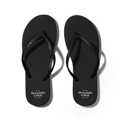 Abercrombie & Fitch Rubber Flip Flops ($15) ❤ liked on Polyvore featuring shoes, sandals, flip flops, sapatos, flats, pure black, rubber sandals, black sandals, kohl shoes and rubber flip flops