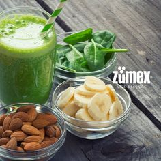 Happy #healthy Monday with #Zumex! A #juice made with #banana and #spinach provides your body with several essential nutrients, and offers a number of health benefits. Taste it! :)