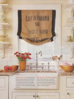 Grain Sack Valance How to Decorate a Kitchen   Stylish & Practical Ways to Accessorize Your Space