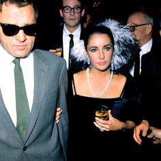 Elizabeth Taylor and Richard Burton in Paris, 1965.