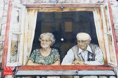461 / Berühmte Köpfe der Stadt entdecken -   Der Klassiker: Oma und Opa gemalt von Peter F. Krueger auf der Wand der AWO am Rembertikreisel. Aber es gibt natürlich noch sehr viel mehr zu entdecken, weitere Bilder folgen.