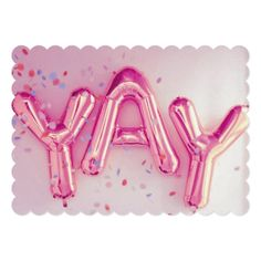 """YAY!"" CARD - diy cyo customize personalize design"