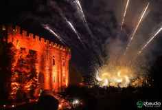 Lighting and sound for weddings and events at Castello di Vincigliata, Florence, Italy. Entertainment by Marat Sidelsky of Marat World Ent, Fireworks by Pirotecnica Soldi Dream Wedding, Wedding Day, Italy Wedding, Fairy Lights, Fireworks, Backdrops, Wedding Venues, Wall Lights, Castle
