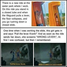 The waterslide you showed me reminded me of this