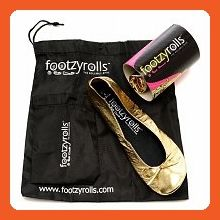 Footzyrolls The Rollable Shoe, Glittery Gold, Extra Small 1 pr - Flats for women (*Amazon Partner-Link)