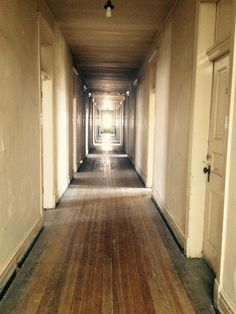 Hallway in the Castaneda Hotel in Las Vegas, New Mexico. Originally opened in 1898 it had been closed since It is being renovated and will reopen in 2016 Haunted Hotel, Haunted Places, Abandoned Places, Unique Hotels, Las Vegas Hotels, Paranormal, New Mexico, Ghosts, Restoration