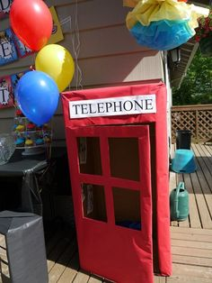 Super Hero Birthday Party- can be reused in different colors like blue for a Dr Who party