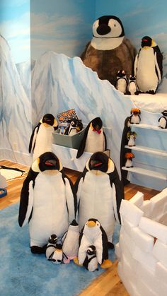 Dormitorio infantil temático: Pingüinos   Decoración Hogar, Ideas y Cosas Bonitas para Decorar el Hogar