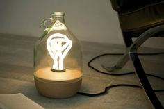 Tom Allen's Beautiful Dama Lamp is Made From a Recycled Wine Jug