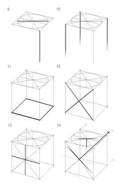 Cube en Perspective Cavalière à 2 points de fuite 5   ART edukacja ...