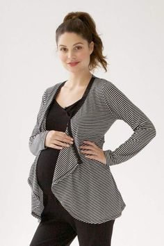 Top off your favorite wardrobe pieces with our versatile, maternity and nursing cardigan. A lace trimmed cross over front offers privacy when nursing and easy to manage buttons are positioned below the bust for easy nursing access. Maternity Poses, Lace Trim, Tunic Tops, After, Blazer, Sweaters, Jackets, Sale Sale, Fashion