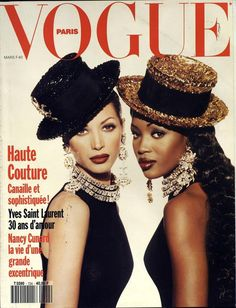 Naomi Campbell et Christy Turlington pour le numéro de mars 1992 de Vogue Paris http://www.vogue.fr/thevoguelist/christy-turlington/43