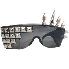 Sunglasses with Pyramid Studs and Spikes ($24) ❤ liked on Polyvore