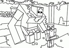 Find More Coloring Pages Online For Kids And Adults Of Minecraft Big Guy To Print