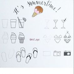 Let's learn summertime #doodles together! Easy peasy in 3 steps. I love these…