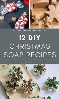 These are some of my FAVORITE tutorials for making your own DIY Christmas soap at home. Whether you're comfortable with Melt & Pour, Hot Process, or Cold Process, there's bound to be a recipe you'll be just dying to try! These recipes make perfect soap bars for beginners. Try some for yourself or as handmade gifts for the favorite people on your list! #diysoap #handmadesoap #handmadegifts #diychristmasgifts Christmas Soap, Little Christmas Trees, Natural Christmas, Diy Christmas Gifts, Simple Christmas, Handmade Christmas, Homemade Candies, Homemade Gifts, Soap Gifts