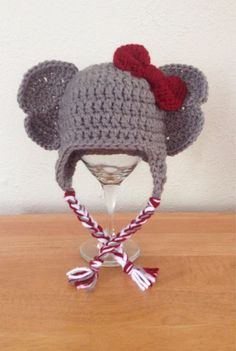 Crochet Elephant Animal Hat for Newborn Baby Toddler and Child  Boy or Girl Alabama Crimson Tide on Etsy, $18.00