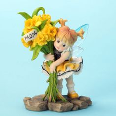 My Little Kitchen Fairies Daffodils Mother's Day Fairy Figurine, what a wonderful surprise for the mom who deserves it all!
