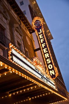 Jefferson Theatre - Beaumont, Texas. Built in 1927, the Jefferson Theatre is Beaumont's best example of Renaissance Revival style and is the town's only surviving historic movie theatre.