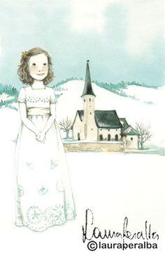 Laura Peralba, cuadros personalizados, recordatorios de primera comunión, recordatorios de bautizo, imágenes religiosas y ángeles de la guarda
