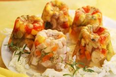 Przepisy Kulinarne: Wielkanocna galareta drobiowa - babeczki