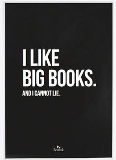 I Like Big Books Poster – Black