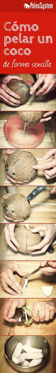 Cómo pelar un coco