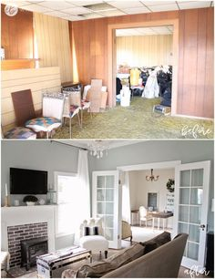 Here is how to save money when renovating a fixer upper - an abandoned 115 year old house. Renovating on a budget, fixer upper homes, is possible! house renovations, Saving Money When Renovating A Fixer Upper - Fixer Upper Homes Home Improvement Projects, Home Projects, Living Room Remodel, Apartment Living, Old House Remodel, Apartment Ideas, Apartment Therapy, Decoration Design, Decoration Bedroom