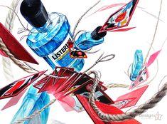 제3미술학원 기초디자인 리스테린 화투 노끈 Marker Kunst, Marker Art, Basic Drawing, 2d Design, Illusions, Art Drawings, Objects, Sketches, Illustration