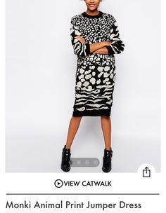 Animal Print Jumper Dress
