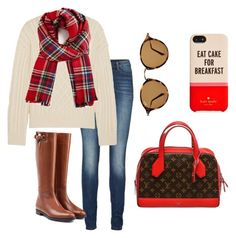"""""""Casual Fall"""" by urbanbella on Polyvore featuring Lipsy, Frame Denim, Baldwin, Burberry, Louis Vuitton, Ray-Ban and Kate Spade"""