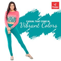 Women who have that winning smile will get that sharp and elegant look when they wear #Prisma's churidar #leggings that come in varieties of hues and spectacular designs. You can wear churidar leggings along with stylish tops and tees and take part in weekend parties with positive mindset. #prisma #prismaleggings  #stayhome #staysafe #covid19 #coronavirus #prismagirl #brandprisma #womenswear  #comfortwear #livafluid #premiumquality  #shop  #trend #style #vogue #ootd #outfit #shopping 4 Way Stretch Fabric, Stylish Tops, Positive Mindset, Churidar, Vibrant Colors, Women Wear, Vogue, Parties, Ootd