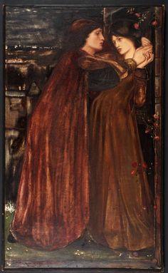 Clerk Saunders by Edward Burne-Jones, 1861