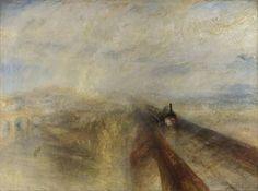 Chuva, vapor e velocidade - O grande caminho de ferro do Oeste, pintura de J.M.W. Turner.